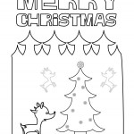 Merry Christmas – Dibujos para imprimir y pintar