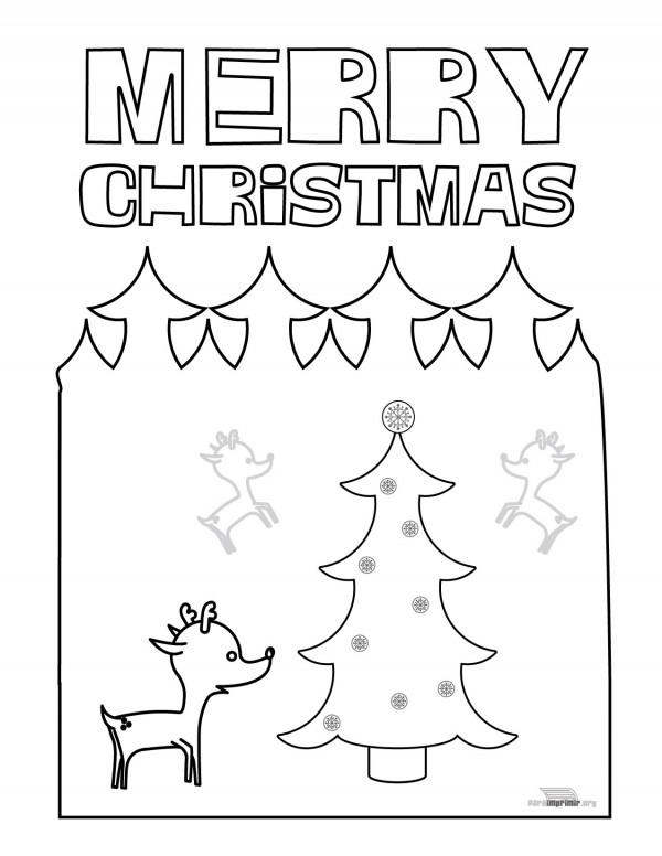 Merry Christmas – Dibujos para imprimir y pintar | Colorear imágenes