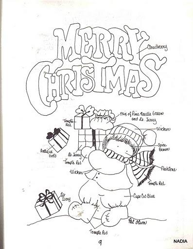 Tarjetas de navidad para imprimir y colorear en ingles