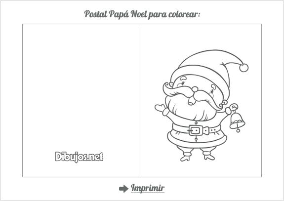 Tarjetas Plegables De Feliz Navidad Para Imprimir Y Pintar
