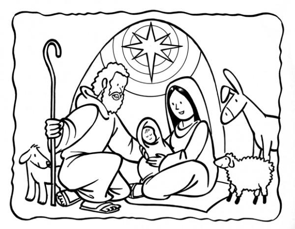 Dibujos de pesebres navide os para colorear belenes for Dibujos postales navidad ninos