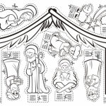 Pesebres de Navidad – Dibujos para colorear y recortar