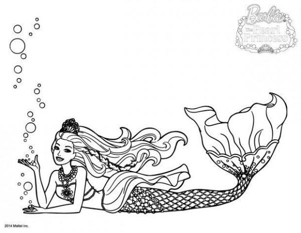 Dibujos de Barbie Sirena para colorear | Colorear imágenes
