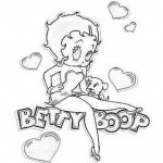 Divertidos dibujos de Betty Boop para colorear