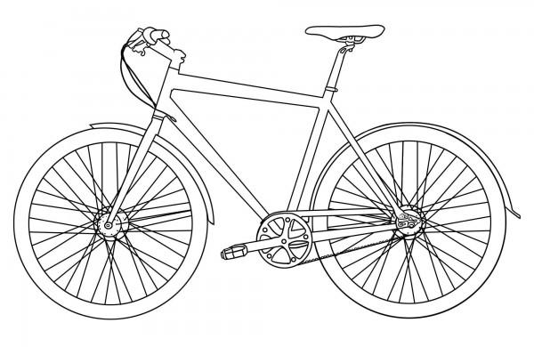 Bmx Bikes For Kids >> Dibujos de bicicletas para imprimir y colorear | Colorear imágenes