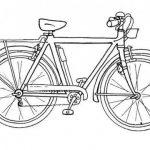 Dibujos de bicicletas para imprimir y colorear