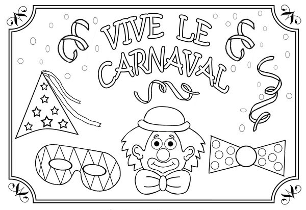 Los mejores dibujos de Carnaval para colorear | Colorear imágenes