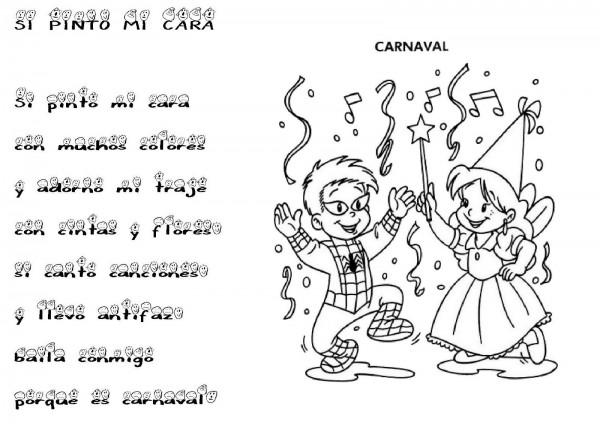 Los Mejores Dibujos De Carnaval Para Colorear Colorear