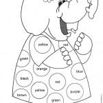 Fichas infantiles para pintar y aprender los colores en inglés