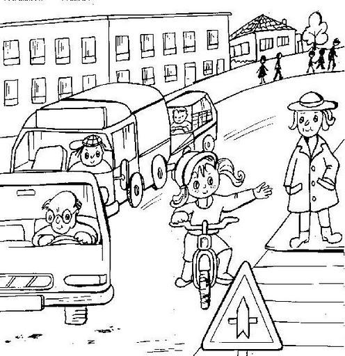 Dibujos infantiles de educaci n vial para pintar for A que zona escolar pertenece mi escuela