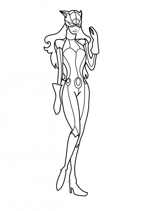 Imágenes de Catwoman (Gatúbela) para pintar | Colorear imágenes