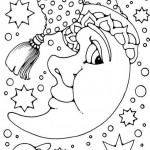 Bonitos dibujos de la luna para imprimir y colorear