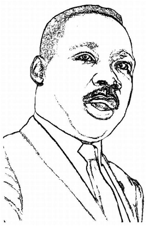 Dibujos de Martin Luther King para imprimir y pintar | Colorear imágenes