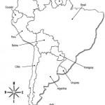 Mapas políticos de América del Sur para colorear