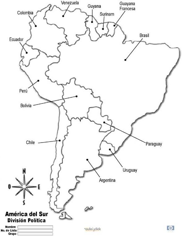 mapaamericadelsur