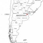Mapas con división política de la República Argentina para colorear
