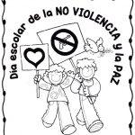 30 de enero – Día Escolar de la No Violencia y la Paz – Dibujos para pintar