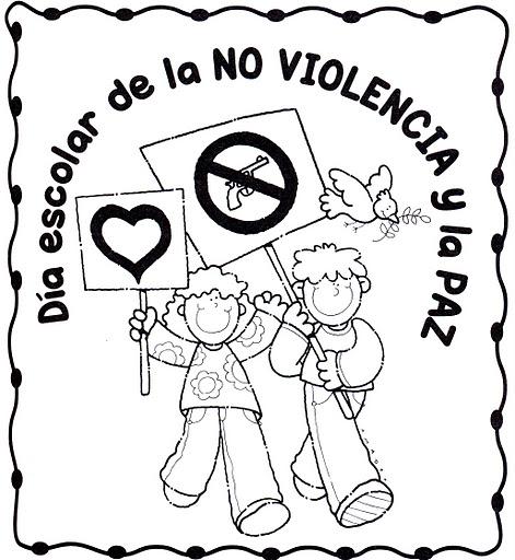 30 De Enero Día Escolar De La No Violencia Y La Paz Dibujos Para