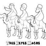 Dibujos de Melchor, Gaspar y Baltasar para colorear: Tres Reyes Magos para pintar