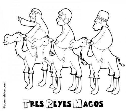 Dibujos De Melchor Gaspar Y Baltasar Para Colorear Tres