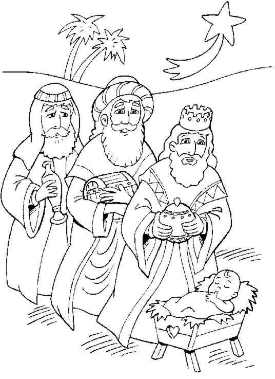 Dibujos de los Tres Reyes Magos para imprimir y colorear ...
