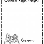 Cartas para los Reyes Magos – Dibujos para imprimir y pitar