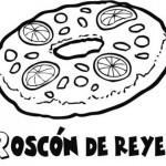 Dibujos de roscas de Reyes para imprimir y colorear