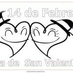 14 de febrero – Día de San Valentín – Dibujos para pintar