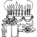 Imágenes de tortas de cumpleaños para  imprimir y colorear