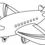 Dibujos de medios de transportes aéreos para pintar: Aviones para colorear