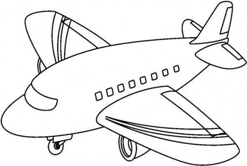 Dibujos De Medios De Transportes Aéreos Para Pintar Aviones