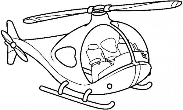 Dibujos de medios de transportes aéreos para pintar: Aviones para ...