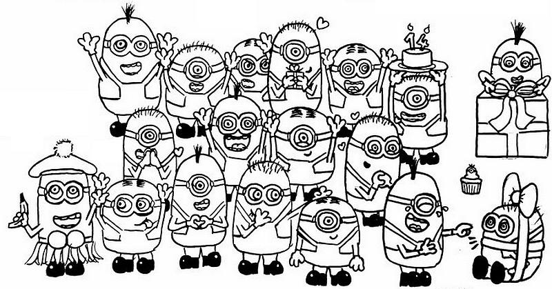 56 dibujos de minions para descargar gratis imprimir y for Minions immagini da colorare