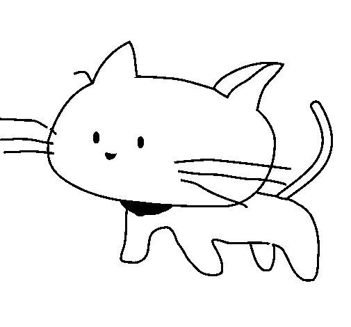 cria-de-gato-colorear