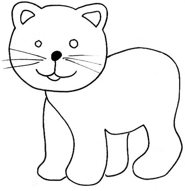 89 Dibujos de gatos para imprimir y colorear | Colorear imágenes