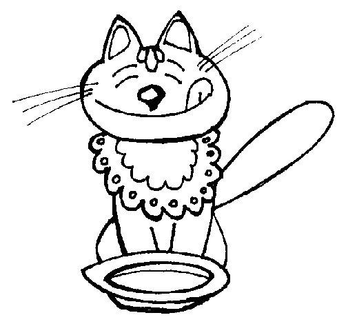 gato-comiendo-colorear