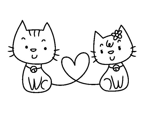 gatos-enamorados-colorear