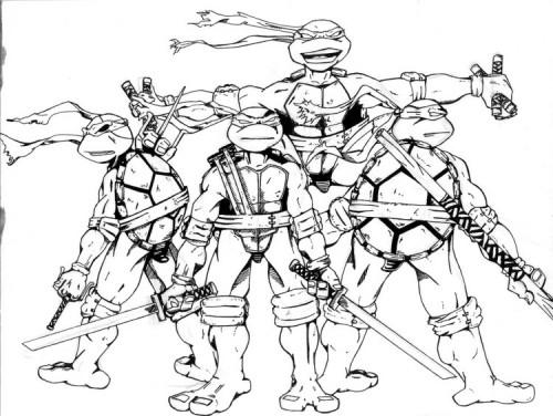 Dibujos Divertidos de las Tortugas Ninjas para colorear: Descargá ...