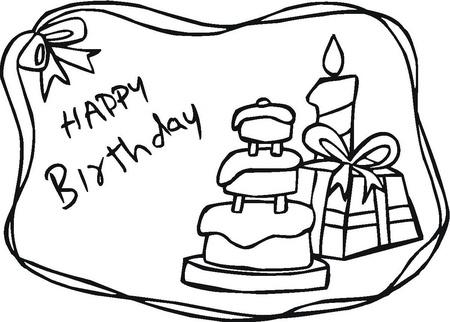 54 Tarjetas de Felíz Cumpleaños para pintar y regalar | Colorear ...