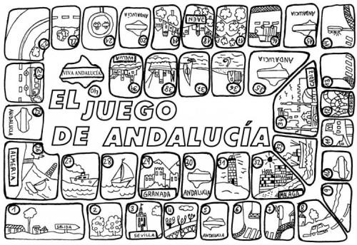 Dibujos del d a de la comunidad aut noma de andaluc a para pintar colorear im genes - Dibujos juveniles para imprimir ...