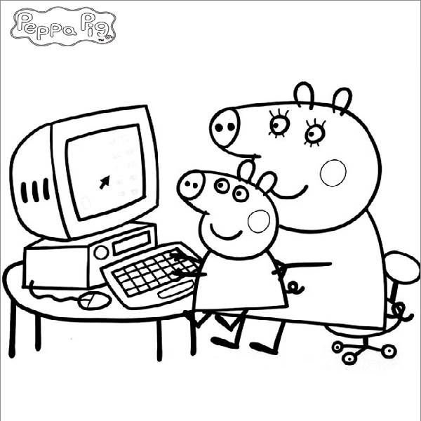 Imágenes con dibujos de Peppa Pig para pintar y colorear | Colorear ...