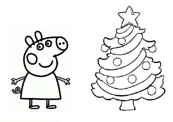 Imágenes con dibujos de Peppa Pig para pintar y colorear