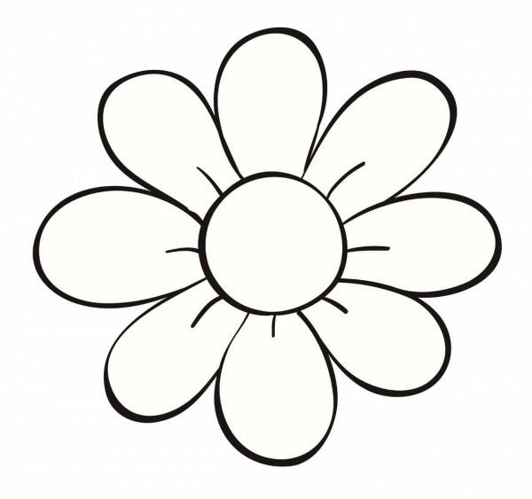 Dibujos de flores para Colorear a Lapiz Pintar y Bordar