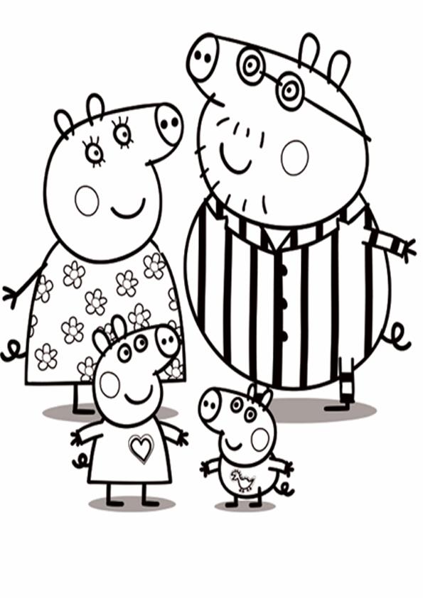 Imágenes Con Dibujos De Peppa Pig Para Pintar Y Colorear Colorear