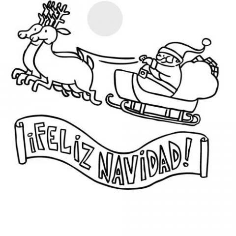 7045-dibujos-cartel-de-feliz-navidad-con-trineo