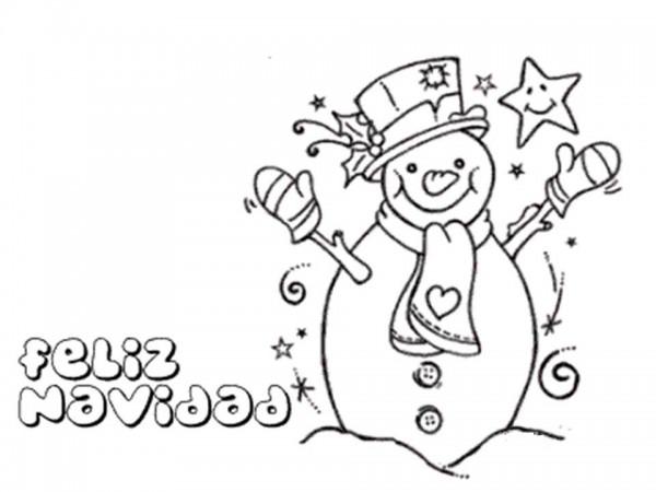 imagen-de-feliz-navidad-con-olaf-muneco-de-nieve-para-dibujar-y-colorear