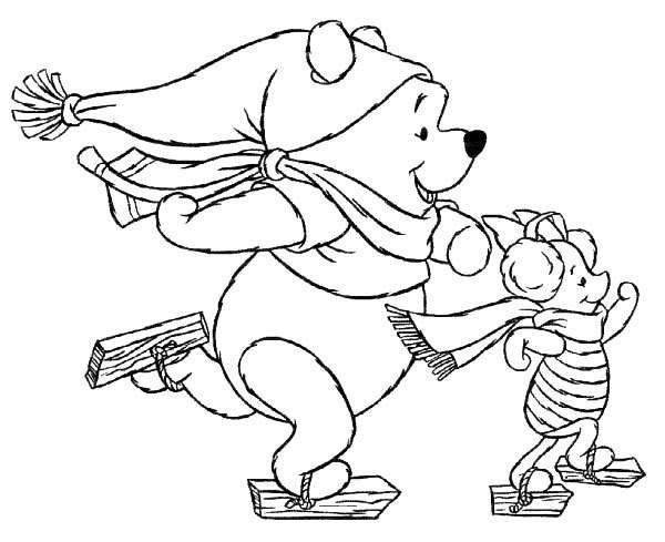 Imagenes De Winnie Pooh Bebe En Navidad Para Colorear - ARCHIDEV
