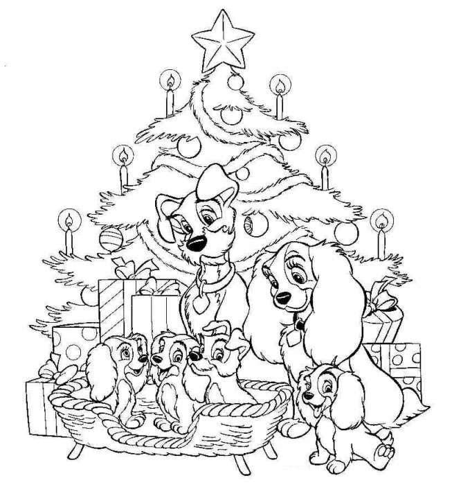 dibujos-para-colorear-disney-navidad