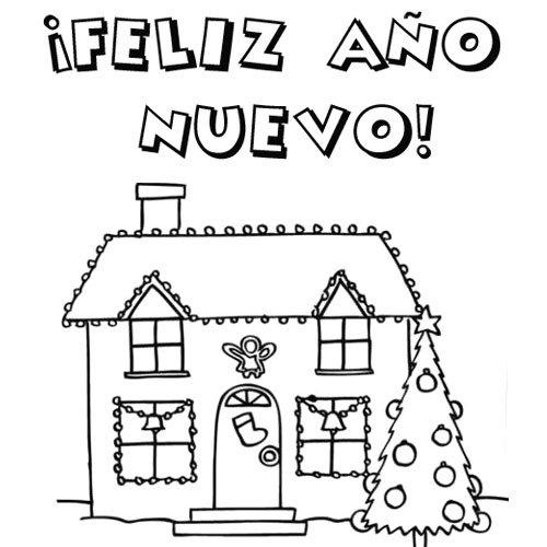 feliz-ano-nuevo-2014-para-colorear-1329-4-postal-con-casa-navidena-para-colorear