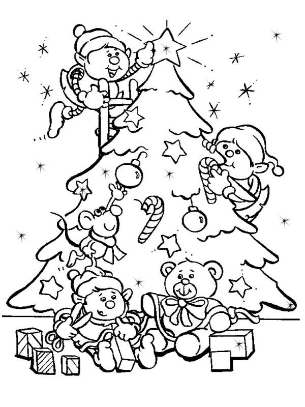 Im genes para colorear de rboles de navidad colorear for Dibujo arbol navidad